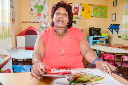 Florianne Bernard est très fière de son parcours à la tête de cette école maternelle.