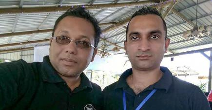 Subeer Basdeo et Ashvin Appa se sont entourés de jeunes motivés pour mener à bien cette action.