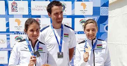 La cycliste mauricienne offre au pays sa première médaille d'or dans cette compétition.