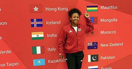 Christianne Legentil retouve son meilleur niveau à chacune de ses sorties internationales.