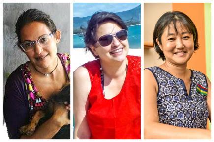 Saleema Pierre, Joëlle Constantin-Ramen et Patricia Yue donnent de leur temps et de leur énergie pour ce mouvement positif.