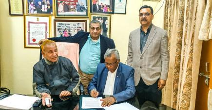 La signature d'accord avec la Confédération des Aveugles de l'Inde a été faite cette semaine.