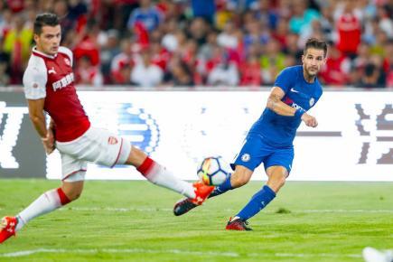 Les Blues ont vaincu les Gunners (3-0) en match amical le 22 juillet.