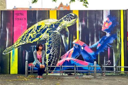 Des grafitis et de l'art au Danemark.