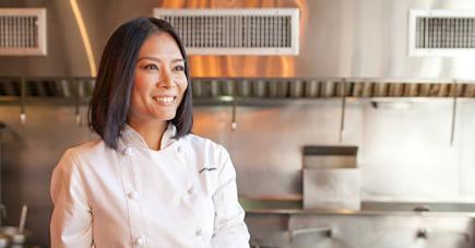 La jeune chef a partagé son histoire avec ses clients mauriciens.