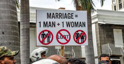 La manifestation anti-LGBT, samedi dernier, a beaucoup occupé l'actualité cette semaine.