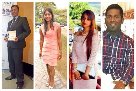 Mevin, Lovena, Jasbeen et Ajagen, membres du comité exécutif de l'association, conjuguent au quotidien leur engagement dans le social.