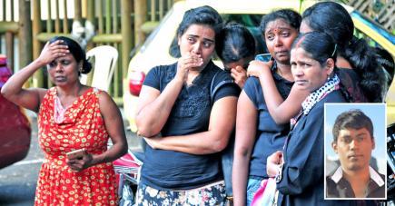 Les proches de Dinesh en larmes en après avoir appris  la mauvaise nouvelle.