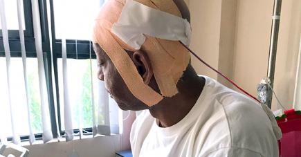 Marcelino Laville a été agressé par son fils.