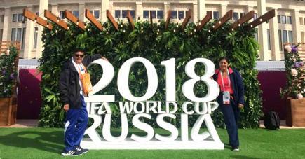 Keshan et sa tante Priscilla à la découverte de la Russie.