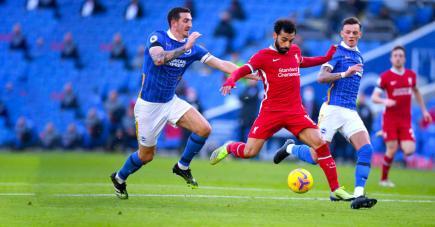 Un but de Mo Salah a été refusé par la VAR contre Brighton.