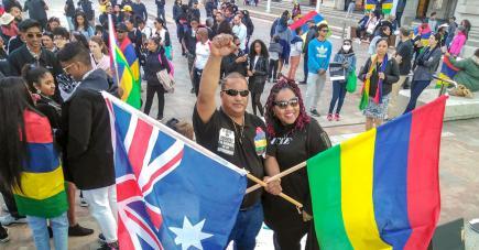 À Genève, en Suisse, en France, en Allemagne ou encore à Perth, en Australie, des Mauriciens de presque partout se sont rassemblés en solidarité avec ceux qui ont marché hier, samedi 29 août, à Port-Louis.