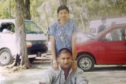 Umawatee et son époux et meurtrier, Sudhir Somrah.