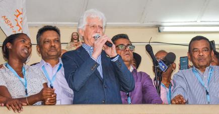 Le chef du MMM a livré un discours posé, calme, sans hargne ni enthousiasme à ses partisans.