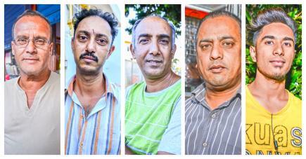 Girish, Yogesh, Sanjeev, Soodesh et Shaheel racontent l'ambiance dans leur ville.
