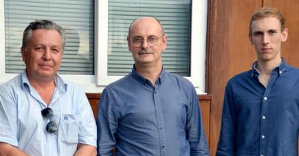 Le trio Sébastien Criséo, Philippe Charlot et Guillaume Charlot.