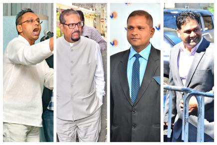 Ravi Rutnah, Showkutally Soodhun, Kalyan Tarolah et Ravi Yerrigadoo ont été au coeur de la polémique ces derniers jours.