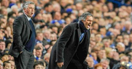 José Mourinho et Carlo Ancelotti se sont affrontés en six occasions avec avantage au Portugais (4 victoires).