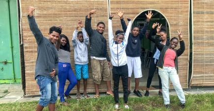 Ces jeunes bénéficiaires participent actuellement au Street Child Cricket World Cup.