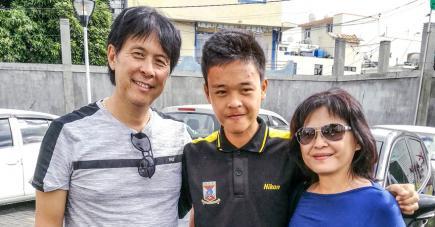 Les parents de Brandon Kwo Tseng peuvent être fiers de la prestation de leur fils.