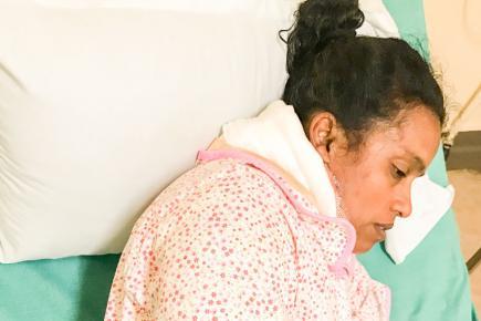 Ce ne serait pas la première fois que la quadragénaire subit les violences de son époux.