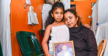 Marie-Paule et sa fille Elmediane ont perdu un pilier.