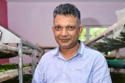 Vinay Kanhye, fier de sa réalisation.