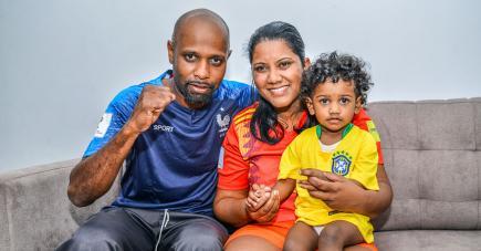 Kersley Levrai et sa petite famille n'échappent pas à la fièvre du ballon rond.