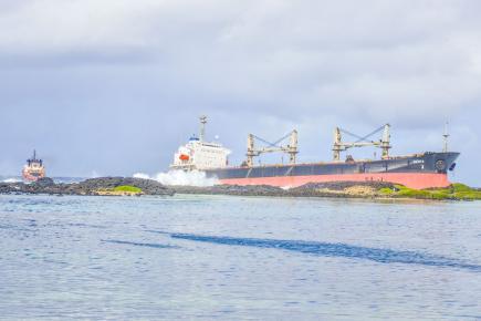 Le naufrage de ce navire a chamboulé la vie des pêcheurs de la localité comme l'explique, Ranjeet Foolchand.