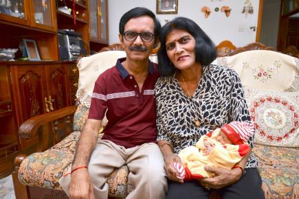 Le couple Padaruth respire aujourd'hui le bonheur. Ci-contre, une photo au tout début de leur histoire.