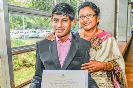 Padmini Ramkissoon ne pouvait pas être plus fière de son fils Luv Veer.