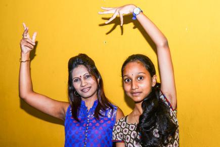 Medha Pyla-ramana et sa fille Yesha partagent la même passion pour la danse classique.