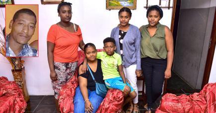 Jenny Emilie et ses quatre enfants sont bouleversés par la disparition  tragique de la victime (ci-contre).
