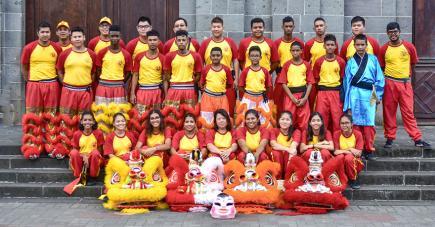 Les jeunes de la troupe Wuji Cultural Group  se produiront avec leurs lions et leur dragon dans les prochains jours.