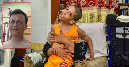 Naushad Oozeer avait beaucoup de projets pour son fils Tayseer, qui souffre de paralysie cérébrale aiguë.