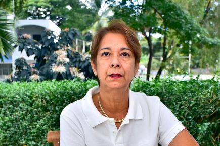 Medgée Fok Shan-Jacques, la présidente de l'ONG, parle des activités (art et loisirs) que proposent celle-ci.