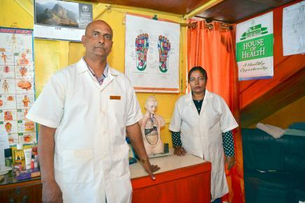Drish Kishtoo pratique l'art du massage ayurvédique depuis plus de dix ans.