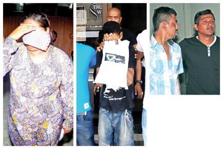 Les autres suspects lors de leur passage au tribunal.