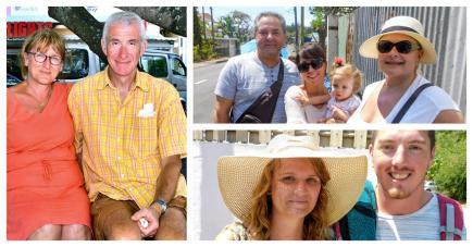 Béatrice et Michel, la famille Thomas, et Morgan et Adrien ont aimé découvrir l'île et ses couleurs politiques.