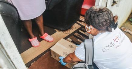 Plus de 400 familles ont reçu ces health packs.