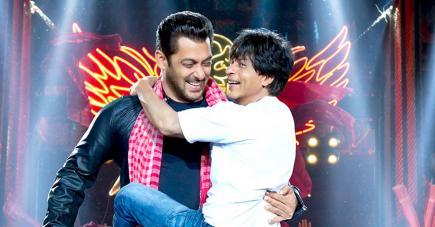 Shah Rukh Khan est entouré de plusieurs stars dont Salman Khan (qui y fait une apparition spéciale), Katrina Kaif et Anushka Sharma.