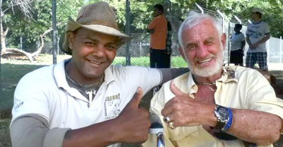 Gilbert Meslier avait rencontré le comédien au Casela Nature Park.