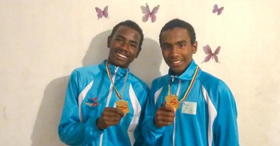 Christopher et Sébastien Bonnapen, un duo qui souhaite laisser sa marque dans l'athlétisme mauricien.