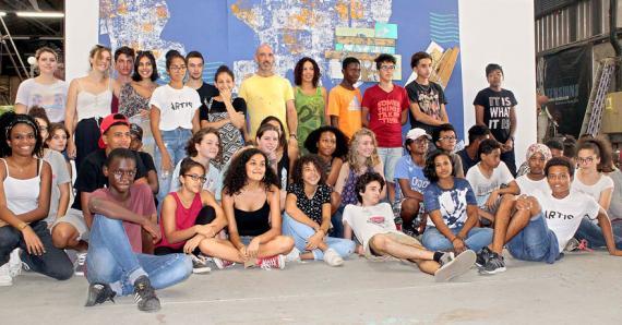 Une bande mauricienne qui a vécu de bons moments avec ses amis réunionnais autour de l'art.