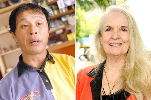 Georges Ah Yan, travailleur social, et Lindsey Collen, de Lalit