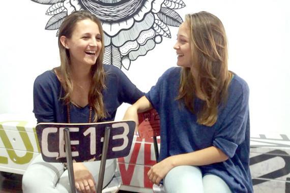 Les sœurs Marine et Agathe parlent de leur concept store.