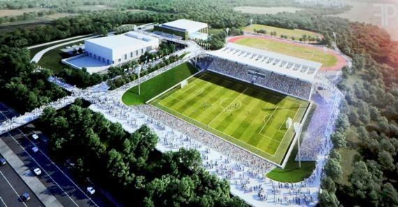 L'installation comprendra notamment un stade de football aux normes internationales.