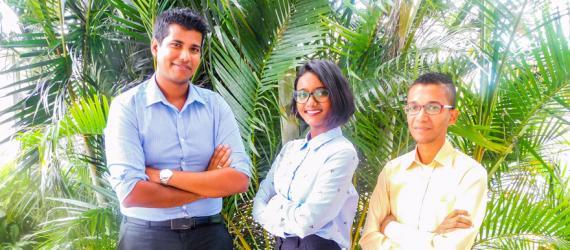 Mandeep Nobeen, Ashwina Thakooree et Chelvin Ramsamy travaillent pour une île Maurice meilleure.