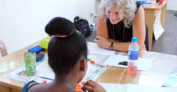 Fiona Appadoo est la co-fondatrice et la responsable de l'ONG.