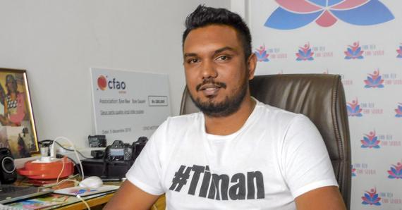 Karan Juglall espère pouvoir récolter le maximum de fonds possible.